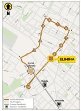 Mapa ruta 16-3 eliminación de parada