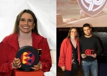 Gerente General  de TransMilenio María Consuelo Araújo y Ganador de FIlminuto