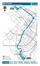 Mapa del recorrido ruta zonal C101