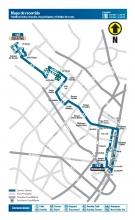 Mapa del recorrido ruta zonal 142
