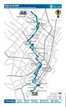 Mapa del recorrido ruta zonal 60