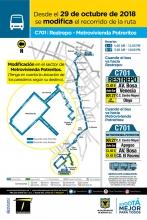 Novedad de la ruta C701