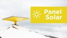 Panel solar estación pradera