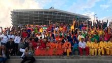 Colectivo en el carnaval TransMiCable