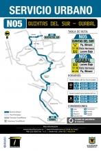 Mapa de la ruta N05