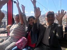 Primeros usuarios en el sistema del TransMiCable en Ciudad Bolívar