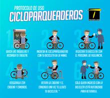 Pasos para guardar una cicla en los cicloparqueaderos