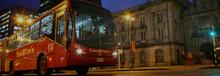 Bus  de TransMilenio Noche