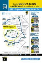 Mapa de la ruta 576