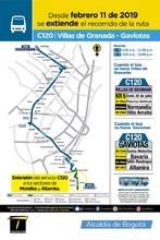 Mapa de la ruta C120
