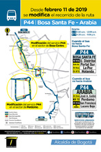 Mapa de la ruta P44