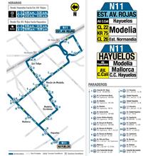 Mapa de la ruta N11