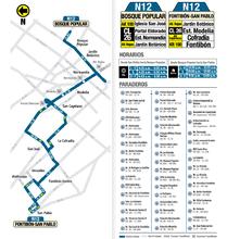 Mapa de la ruta N12