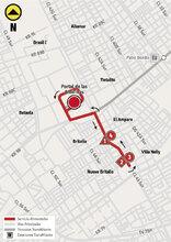 Mapa de la ruta alimentadora 9-6