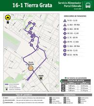 Mapa de la ruta 16-1