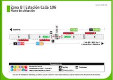 Estación calle 106 Antes