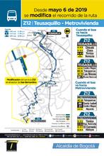 Mapa de la ruta Z12 con la novedad en su cabecera