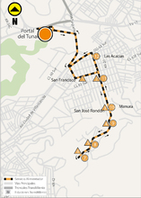 Mapa ruta alimentadora 6-6 José Rondón