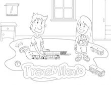 Colorea TransMilenio Niños