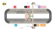 Plano de estación del portal Norte