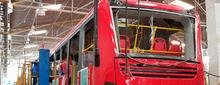 Bus de TransMilenio ensamblado en la planta de Pereira