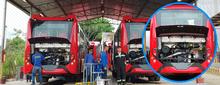 Motores nuevos para los buses con tecnología gas natural estándar Euro VI