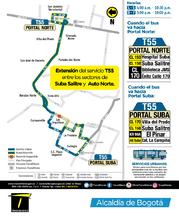 Información de la ruta urbana T55