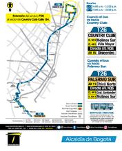 Información ruta urbana T26