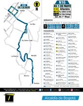Información de la ruta N16