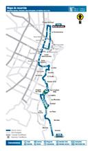 Mapa de la ruta urbana T43A
