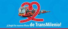 Fila de buses de TransMilenio