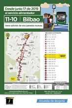 Mapa de la ruta 11-10