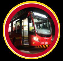 Buses nuevos de TransMilenio a gas natural