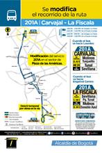 información de la ruta 201A