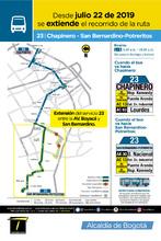 Información de la ruta 23