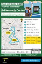 Mapa de la ruta alimentadora 8-1 eliminación de paradas