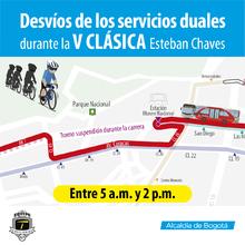 Tramo cerrado por carrera de Esteban Chaves