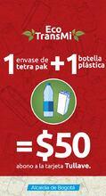 Canjea- 1 envases-tetra-pak+ 1 botella por 50 pesos para tu recarga