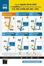 Mapas de las rutas E44, 801, 661, 544B, 2-6 y 402