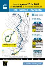 Mapa de la ruta 60 Bachué Zarazota