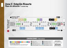 Plano de estación Ricaurte