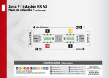 Plano de estación  de la Carrera 43