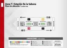 Plano de estación de la Sabana