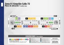 Plano de estación calle 72