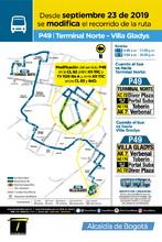 Ruta zonal P49 terminal Norte-Villa Gladys