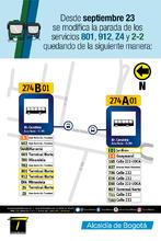 MODIFICACIÓN SERVICIOS 801, 912, Z4 Y 2-2