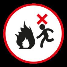 En caso de incendio alejarse