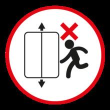 No uso del ascensor en caso de emergencia