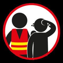 Preguntar al personal en caso de emergencia para seguir las indicaciones
