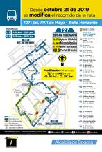 Novedad de la ruta T27 del recorrido